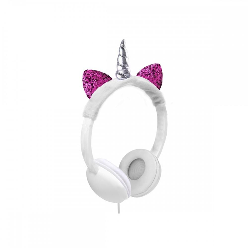 Auriculares infantiles de vincha diseño unicornio