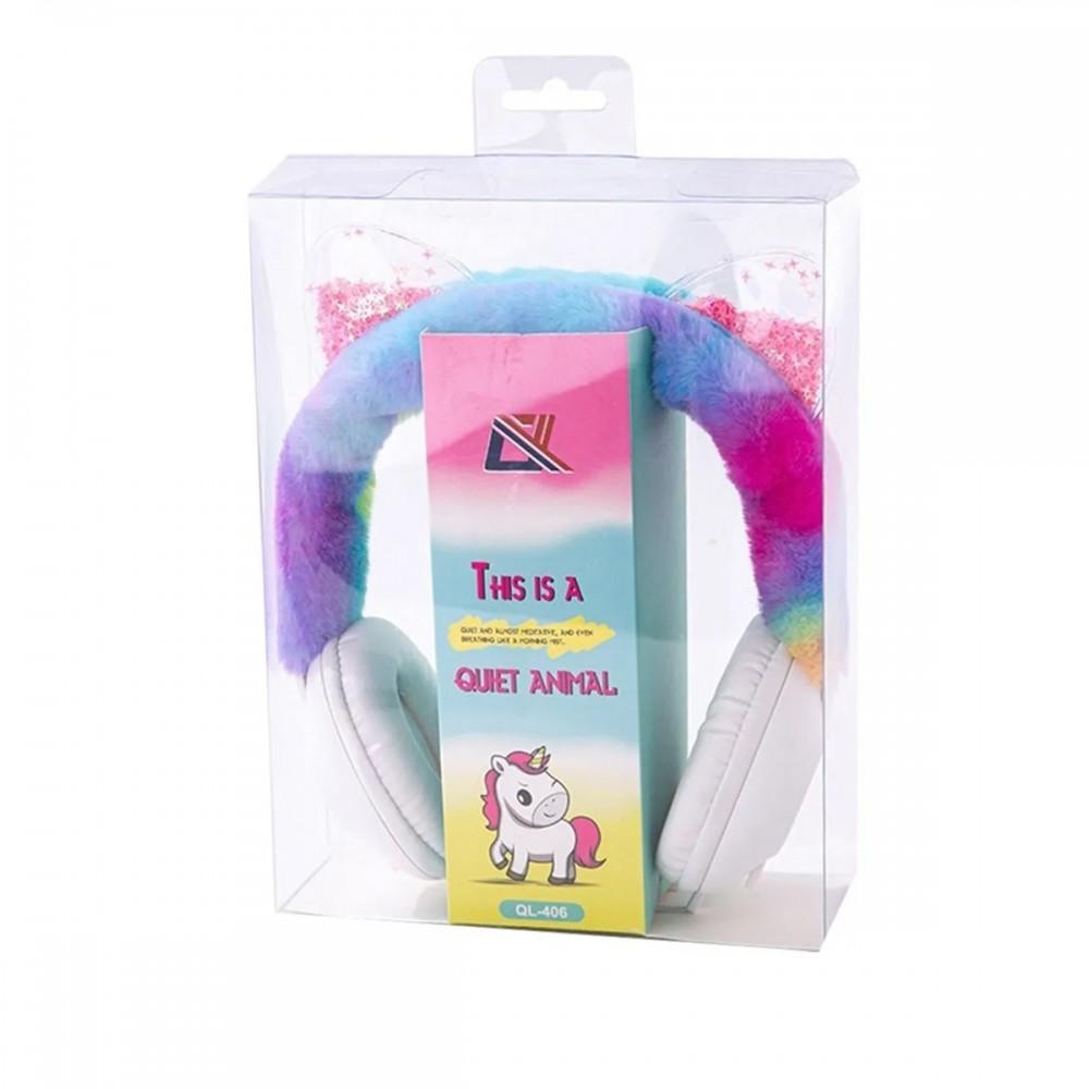 Auriculares infantiles de vincha con orejas