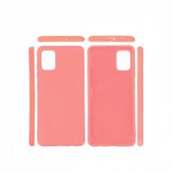 Protector Samsung A31/A31S engomada color rosa