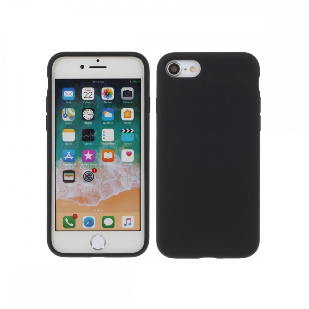 Protector iPhone 7/8 engomado color negro