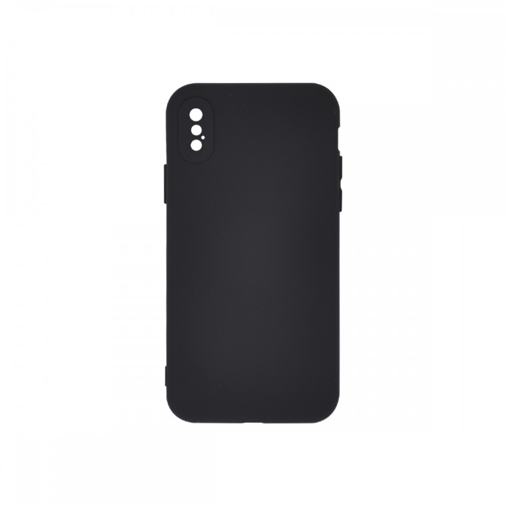 Protector iPhone X/XS engomado color negro