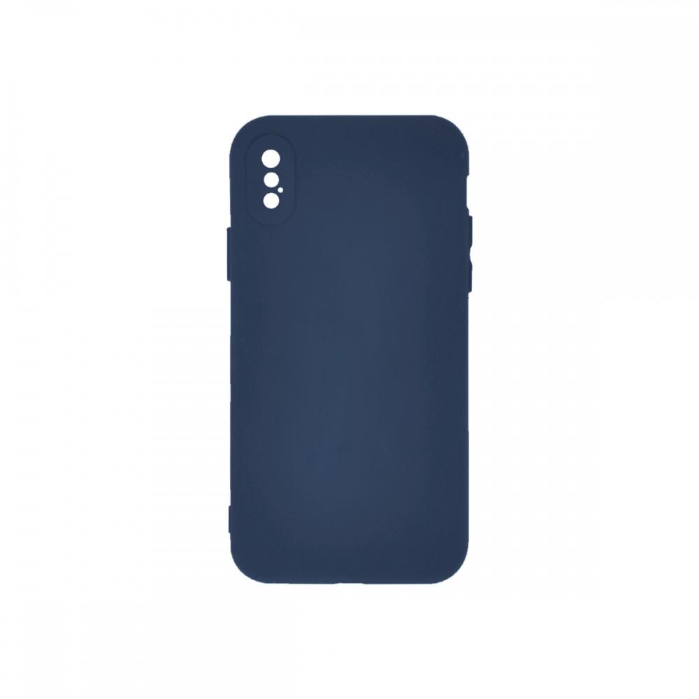 Protector iPhone X/XS engomado color azul