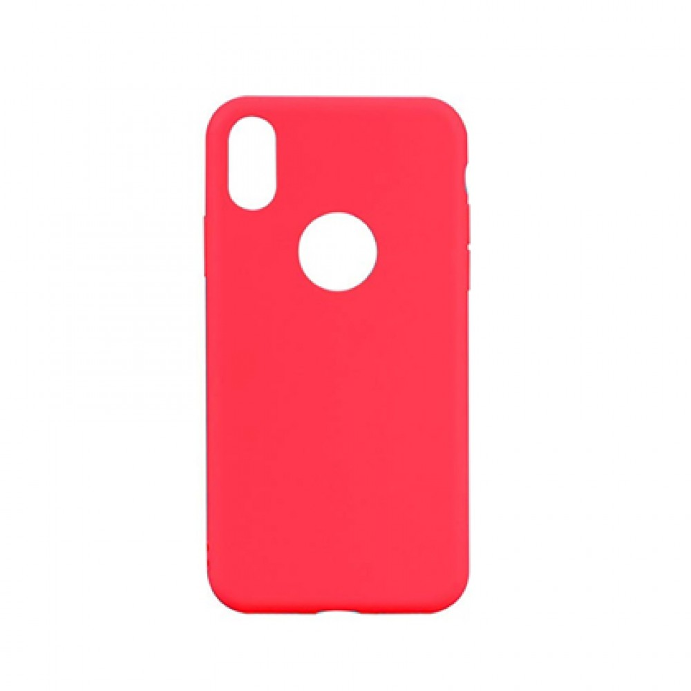 Protector iPhone X/XS engomado color rojo