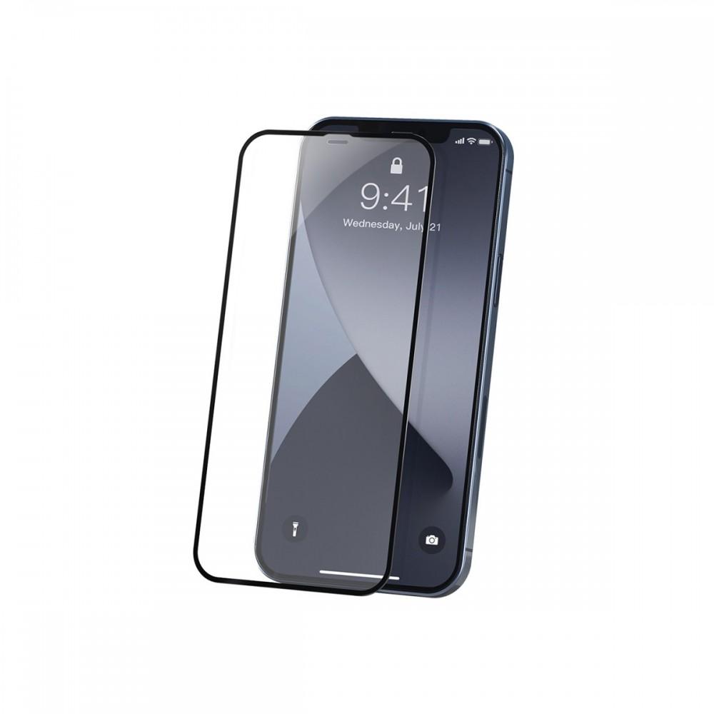 Film templado 9D iPhone 12 Mini borde color negro