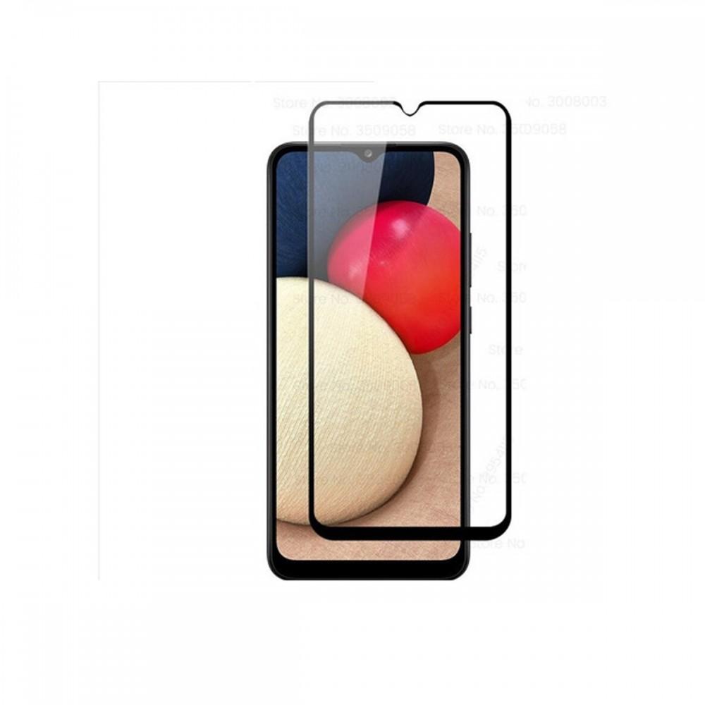 Vidrio templado 9D Samsung Galaxy A02S borde color negro