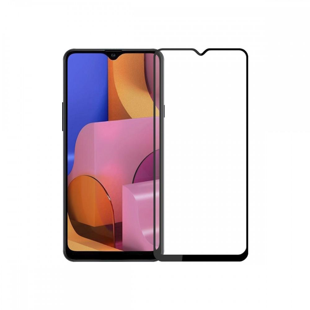 Film templado 9D Samsung Galaxy A20s borde color negro