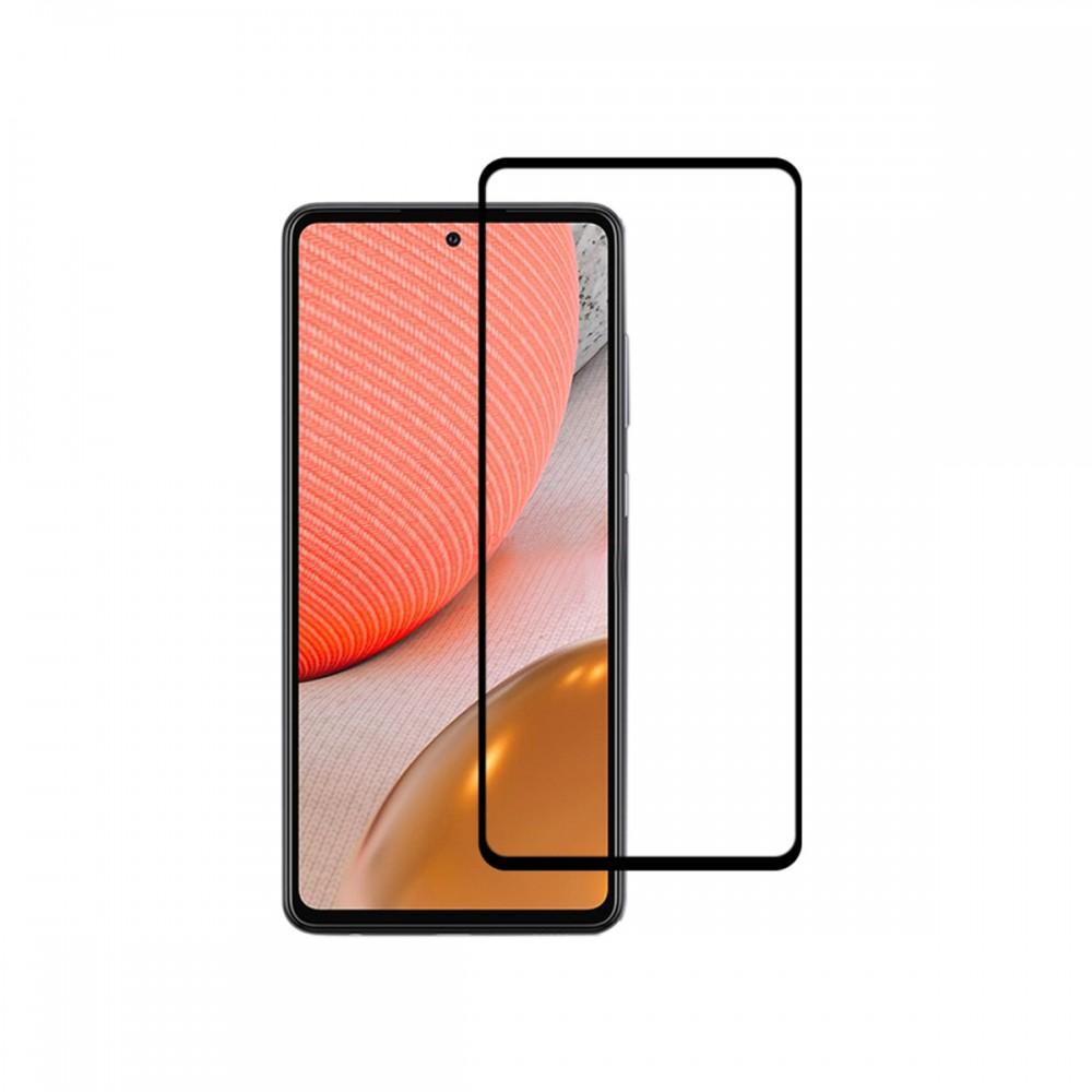 Vidrio templado 9D Samsung Galaxy A72 borde color negro
