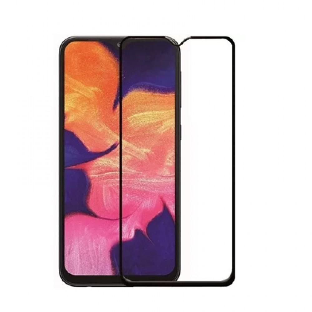Film templado 9D Samsung Galaxy A10 borde color negro