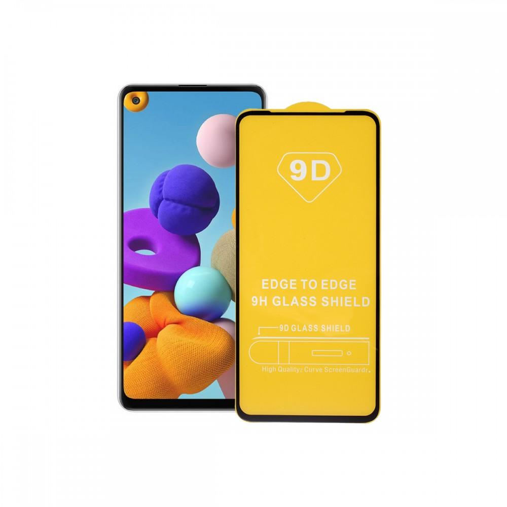 Film templado 9D Samsung Galaxy A11 borde color negro