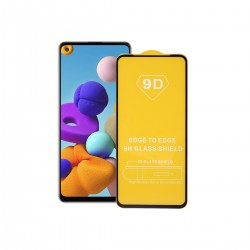 Film templado 9D Samsung Galaxy A11 borde color negro