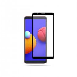 Film templado 9D Samsung Galaxy A01 Core borde color negro