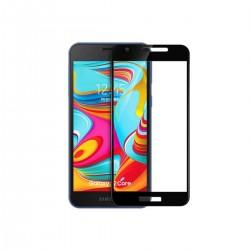 Vidrio templado 9D Samsung Galaxy A2 Core borde color negro