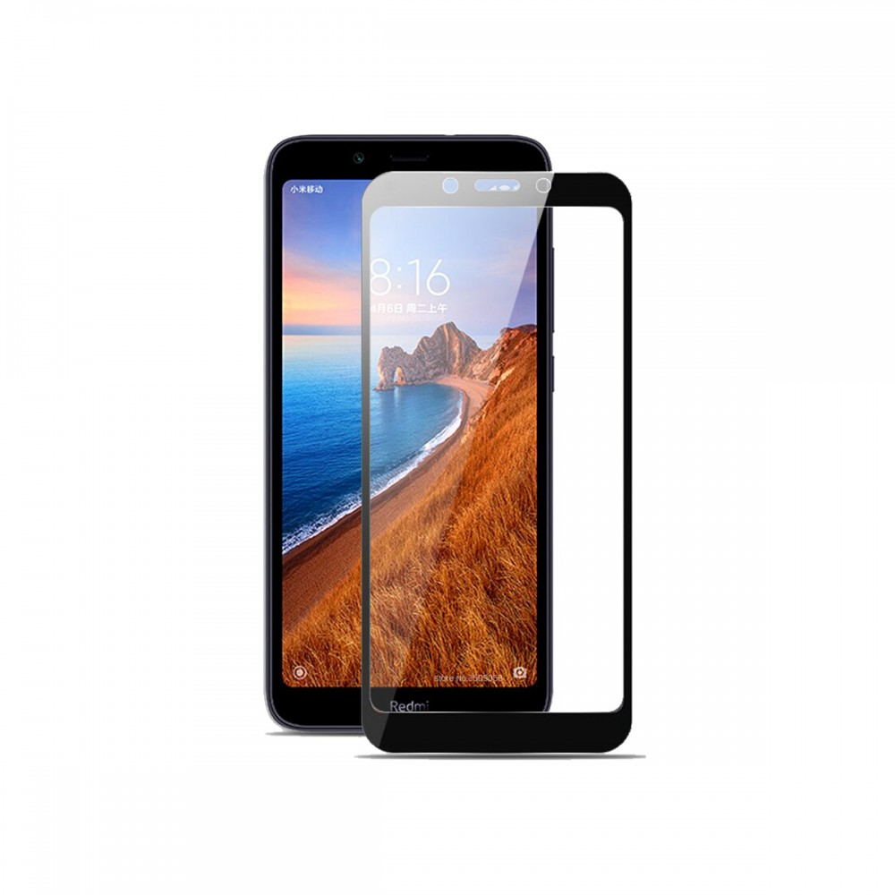 Film templado 9D Xiaomi Redmi 7A borde color negro