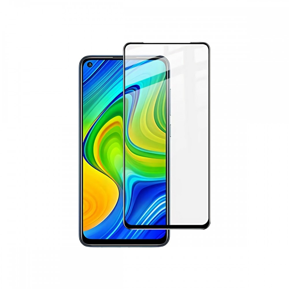 Film templado 9D Xiaomi Note 9 borde color negro