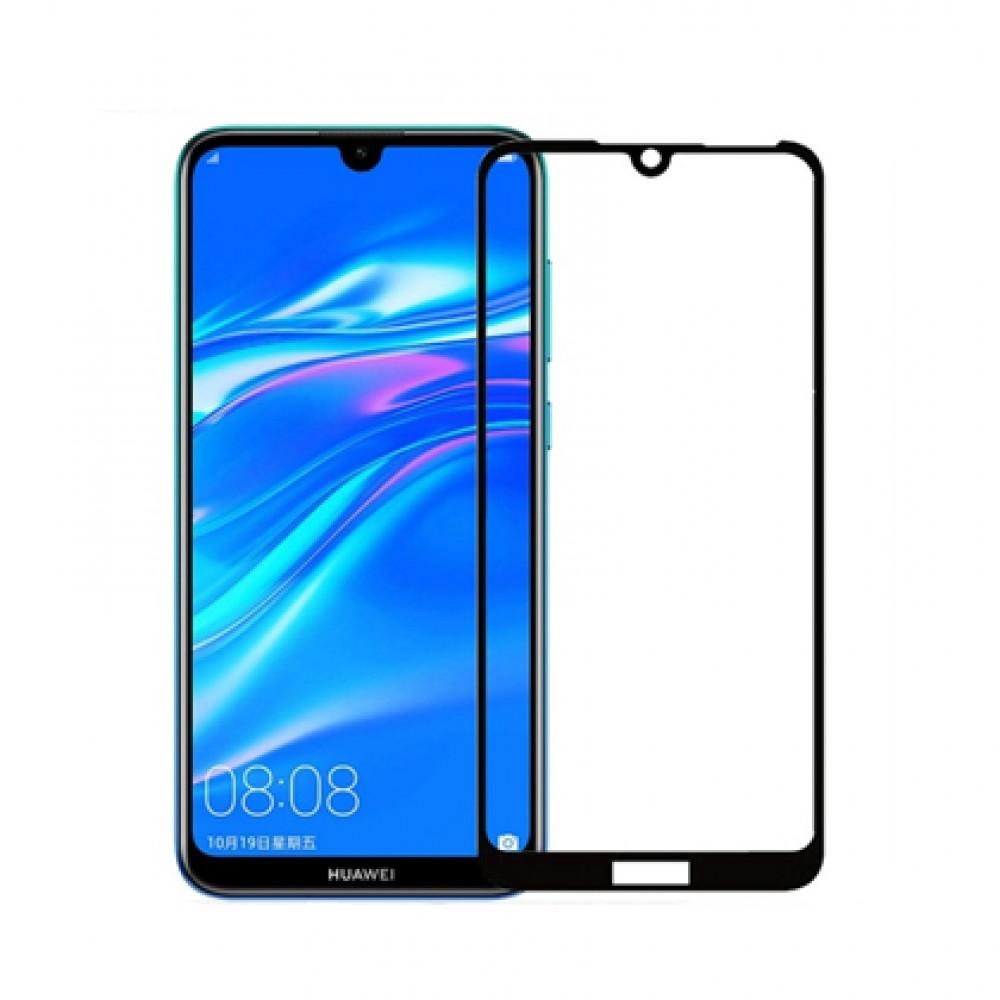 Film templado 9D Huawei Y6 2019 borde color negro
