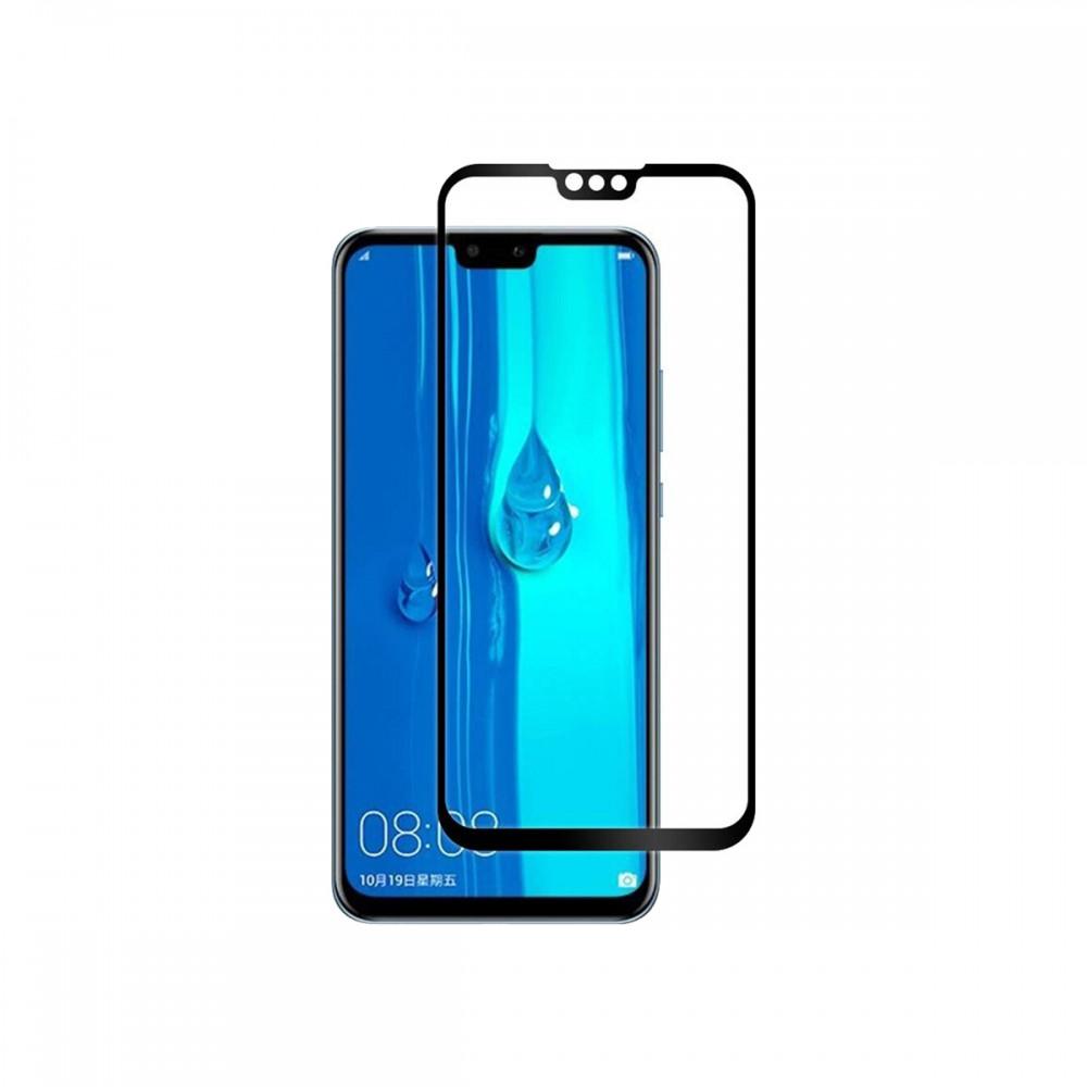Film templado 9D Huawei Y9 2019 borde color negro
