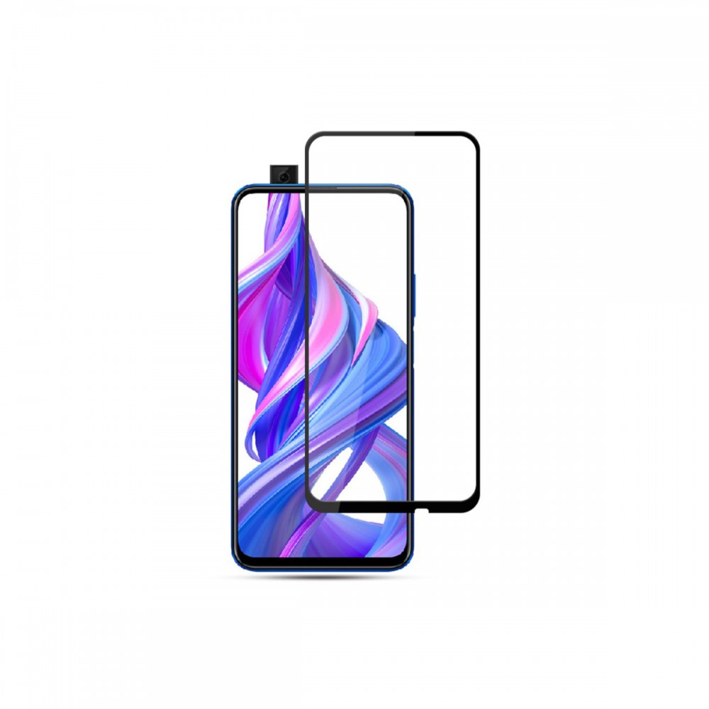 Film templado 9D Huawei Y9 Prime 2019 borde color negro