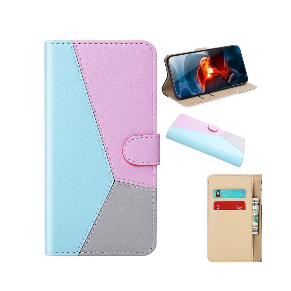 Flip cover Samsung A01 color gris/rosa/azul