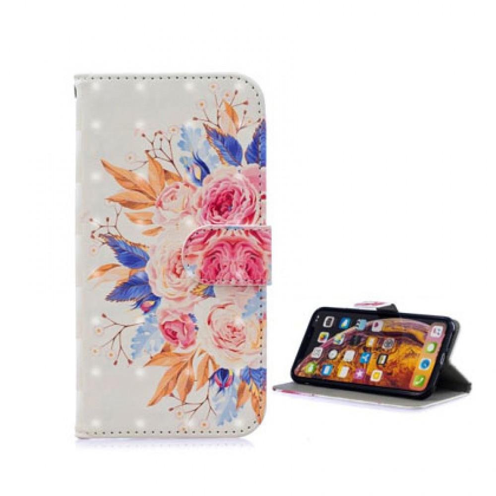 Flip cover iPhone XR diseño flores