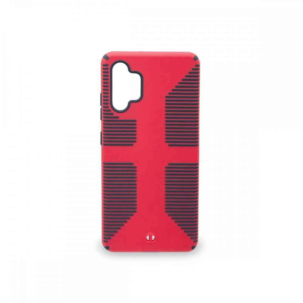 Protector rígido anti caída Samsung Galaxy A32 4G color rojo