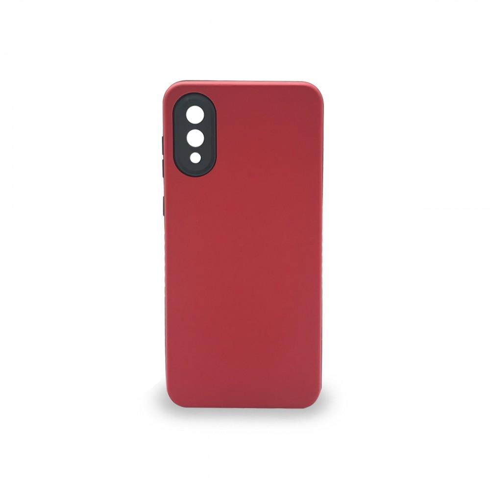 Protector rígido Samsung Galaxy A02 color rojo
