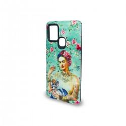 Protector 2 en 1 Samsung Galaxy A21S diseño Frida flores