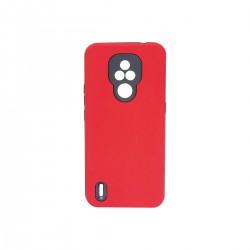 Protector rígido Motorola Moto E7 color rojo