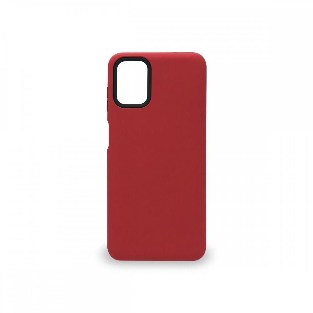 Protector rígido Motorola Moto G9 Plus color rojo