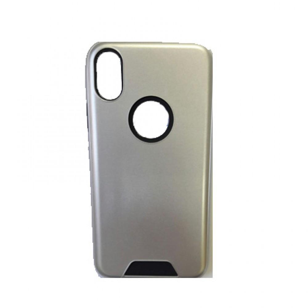 Protector 2 en 1 iPhone X / XS color plateado