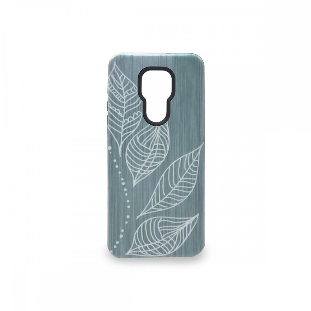 Protector rígido Motorola Moto G9 Play diseño hojas