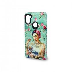 Protector 2 en 1 Samsung Galaxy A11 diseño Frida flores