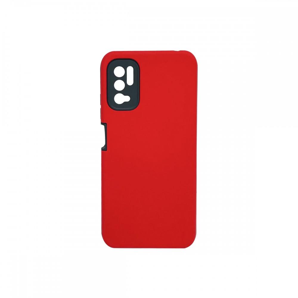 Protector rígido Xiaomi Redmi Note 10 5G color rojo