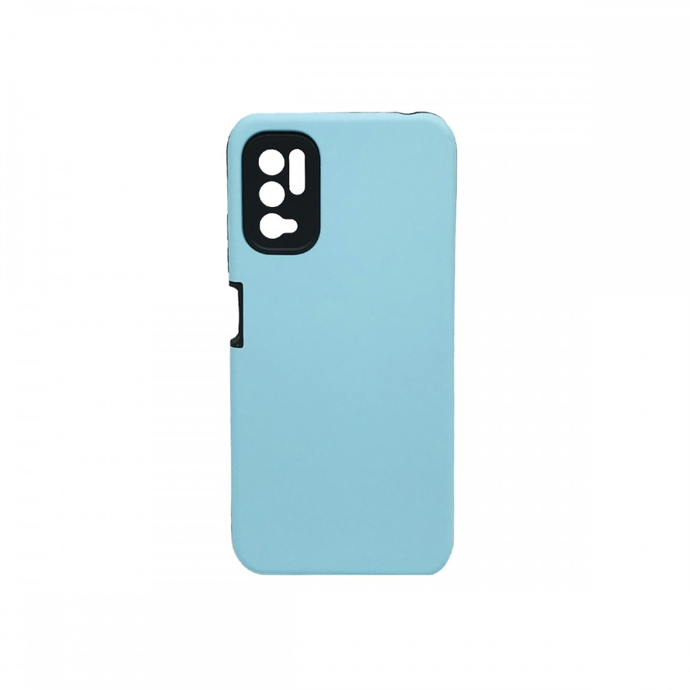 Protector rígido Xiaomi Redmi Note 10 5G color turquesa