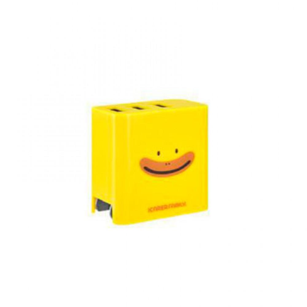 Ficha Icarer de 3 USB 1A/2.1A diseño Dono