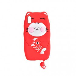 Protector Icarer iPhone X/XS gato color rojo
