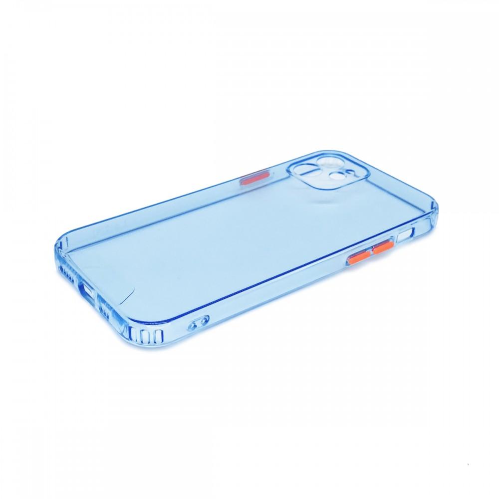 Protector trasparente iPhone 12/12 Pro color azul