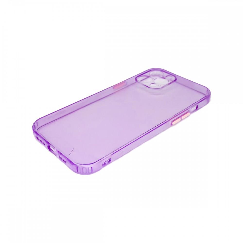 Protector trasparente iPhone 12 Pro Max color violeta