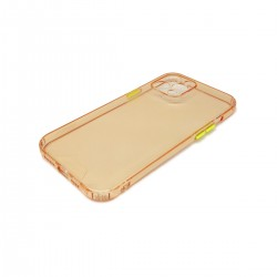 Protector trasparente iPhone 12 Pro Max color rosa