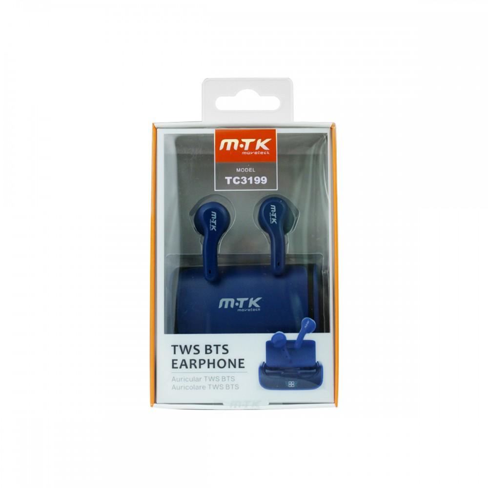 Auriculares bluetooth inalámbricos MTK TC3199 color azul