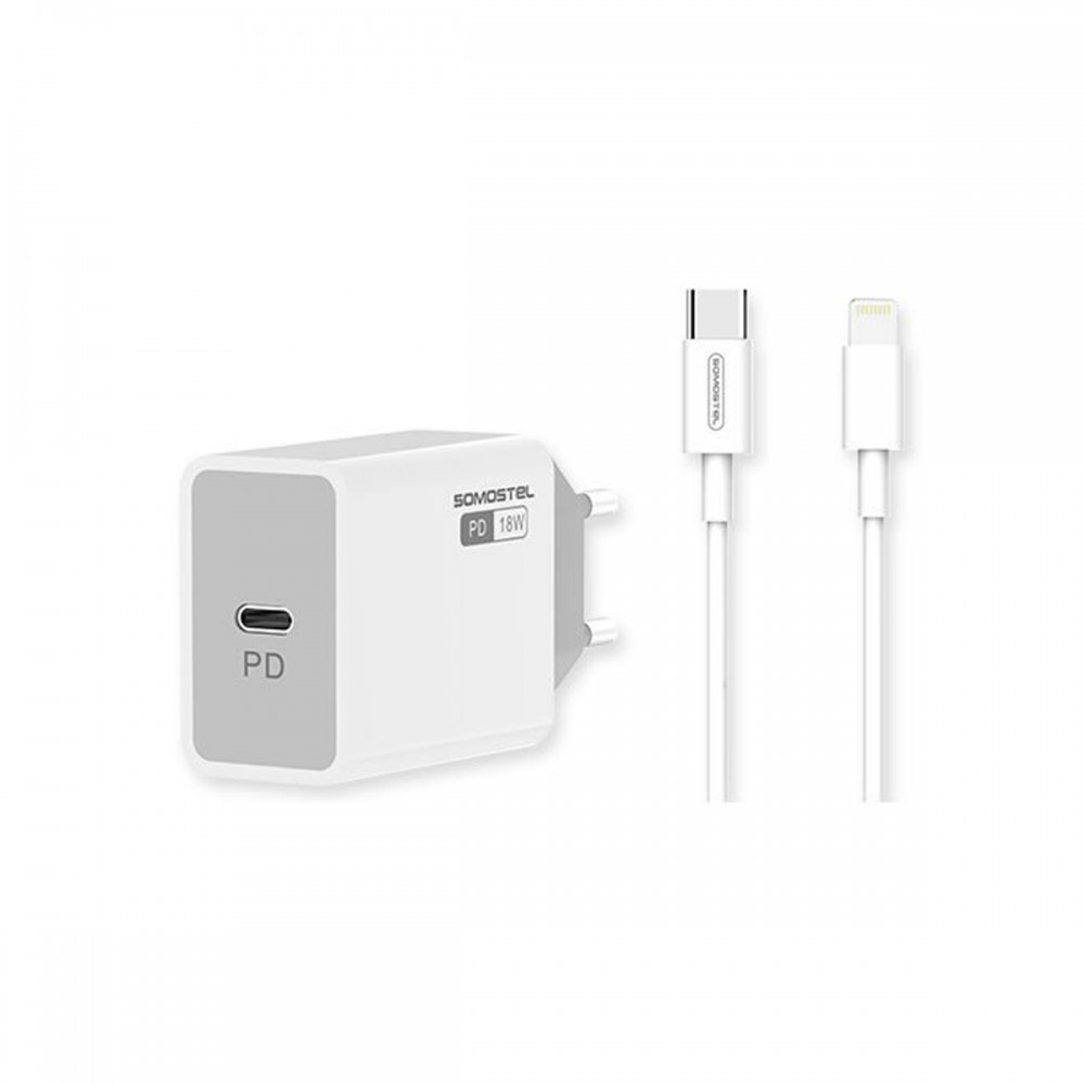 Cargador Apple genérico TipoC con cable Lightning