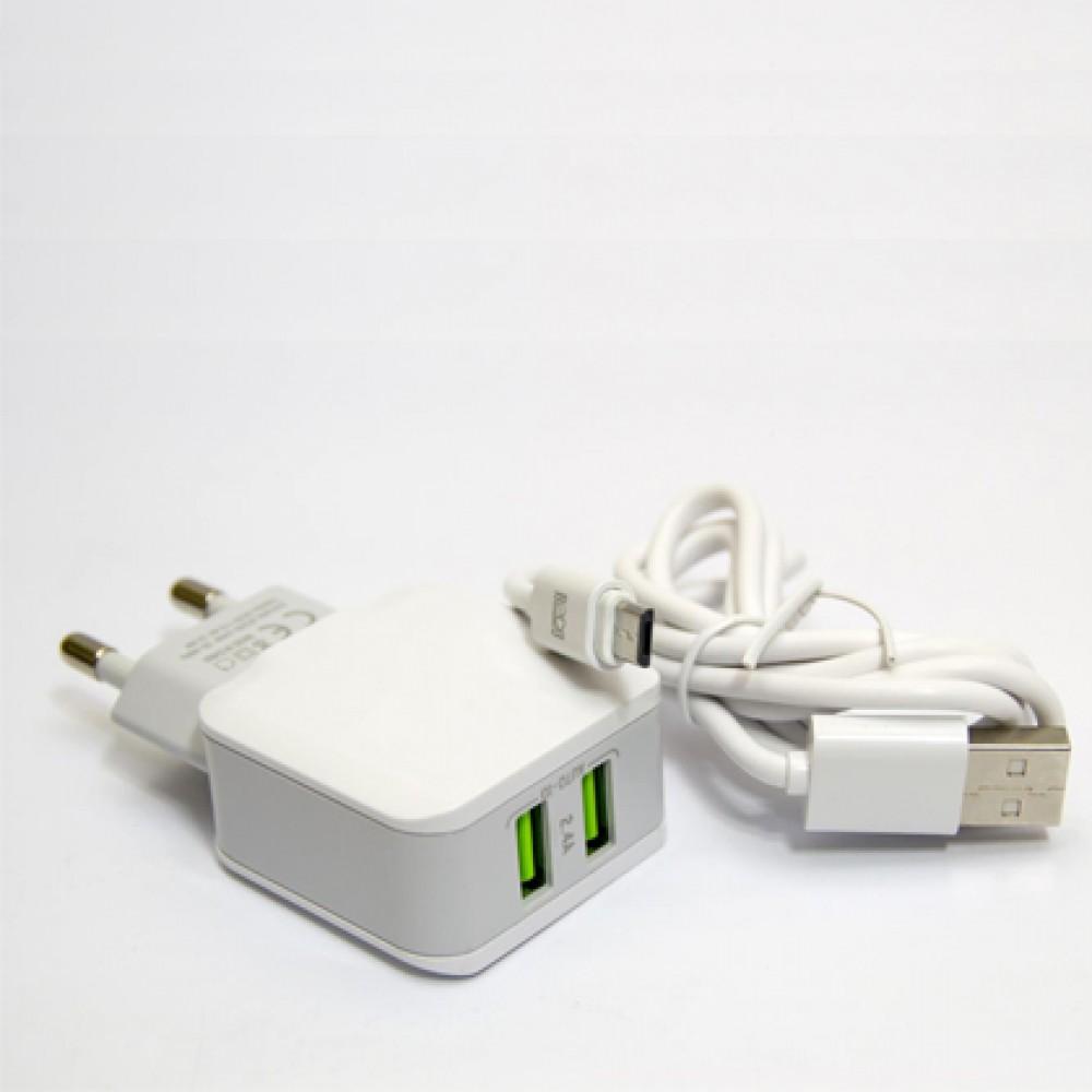 Cargador de pared genérico MICROusb 2 USB