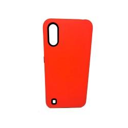 Protector Samsung A01 color rojo