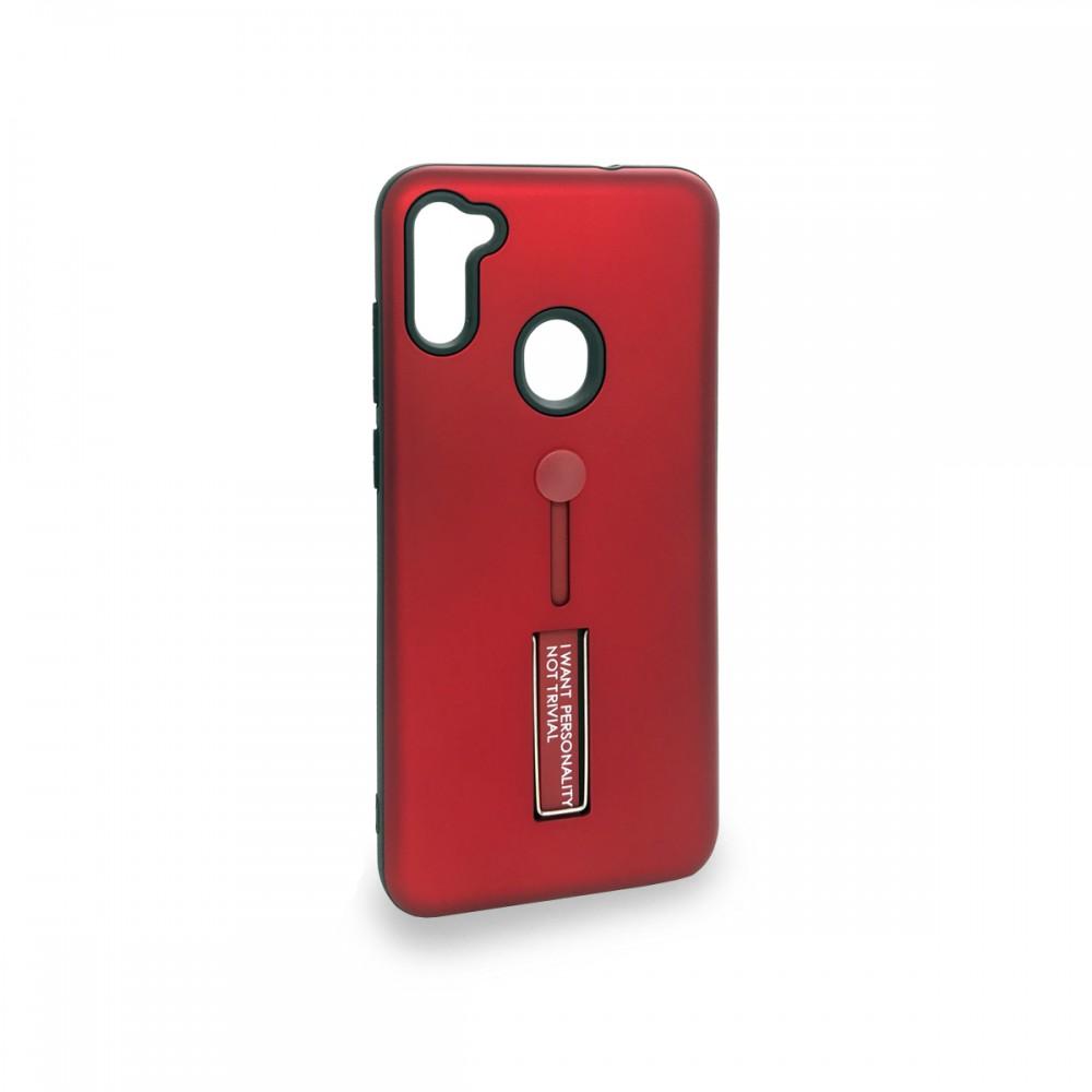 Protector Samsung Galaxy A11 anillo y soporte color rojo