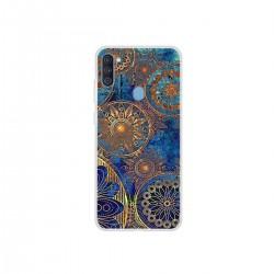 Protector de TPU Samsung Galaxy A11 diseño flores azules
