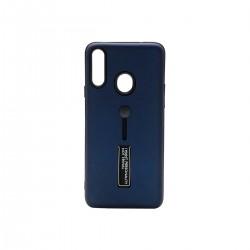 Protector Samsung A20s anillo y soporte color azul