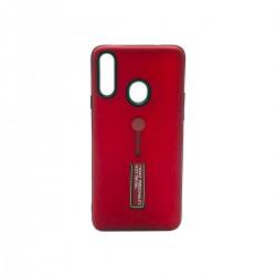 Protector Samsung A20s anillo y soporte color rojo