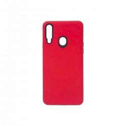 Protector rígido Samsung Galaxy A20s color rojo