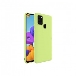 Protector Samsung Galaxy A21S color verde